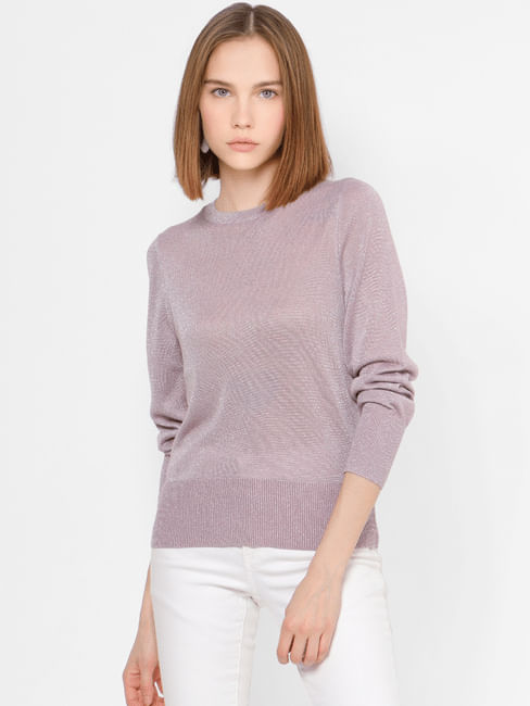 Light Lavender Shimmer Pullover