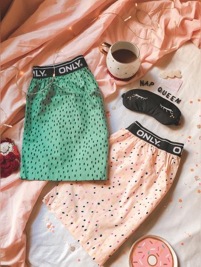 Pack of 2 Printed Pajama Boxers - Pink & Green