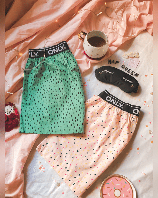Pack of 2 Printed Pajama Boxers - Pink & Green