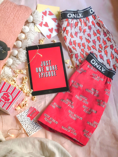 Pack of 2 Printed Pajama Boxers - Red