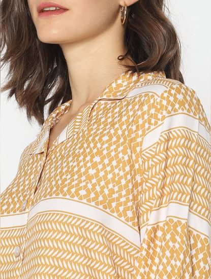 Mustard All Over Print Shirt