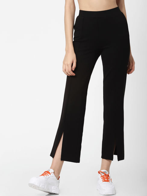 Black High Rise Slip-On Slim Leggings