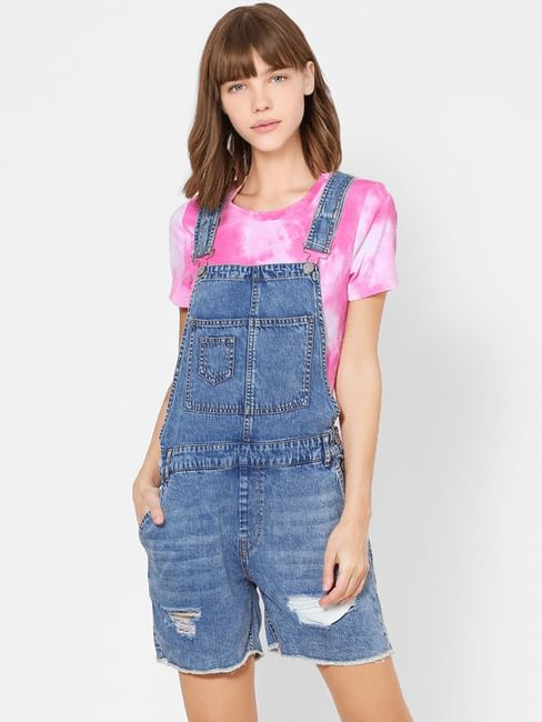 Blue Denim Dungaree Playsuit