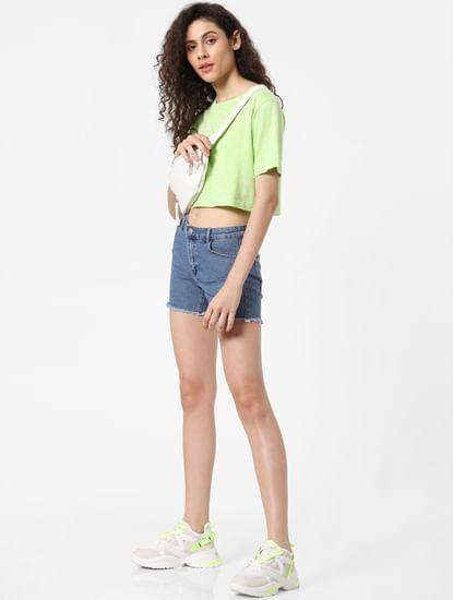 Neon Green Crop T-shirt