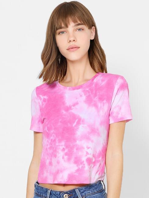 Pink Tie & Dye Top
