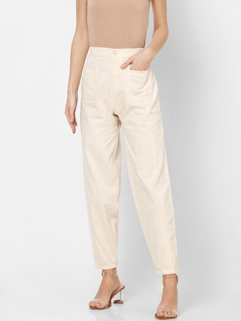 Off White High Rise Pants