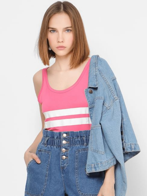 Pink Striped Singlet