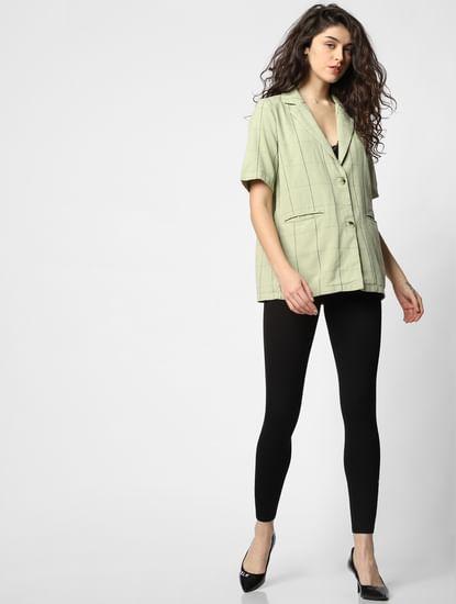 Green Check Blazer