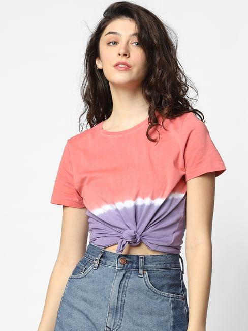 Peach Tie & Dye T-shirt