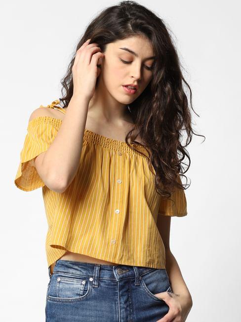 Mustard Striped Top