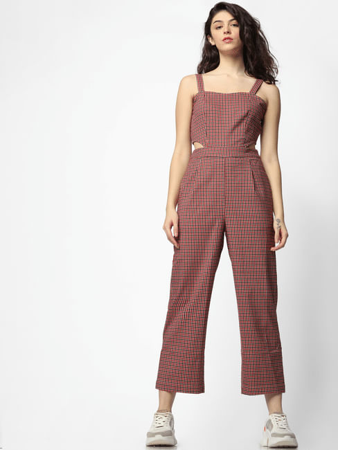 Red Check Jumpsuit