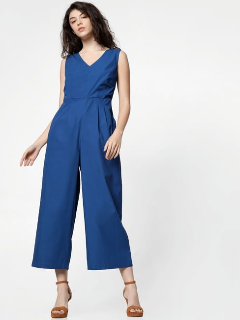 Blue Bow Detail Jumpsuit