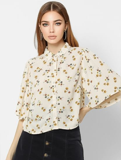 Off-White Floral Print Shirt