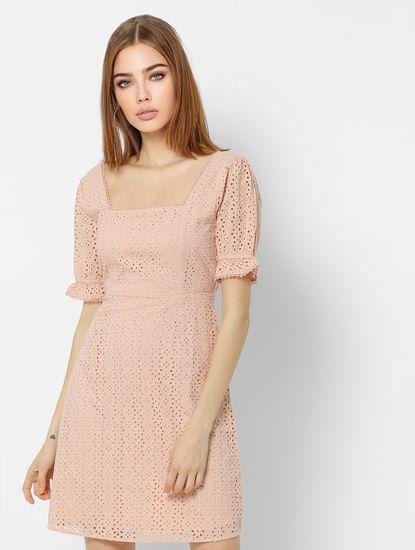 Pink Cut-Out Detail Mini Dress