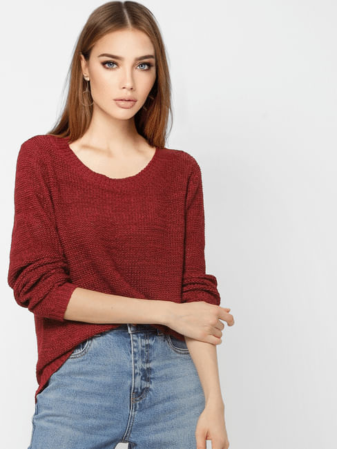 Dark Red Pullover