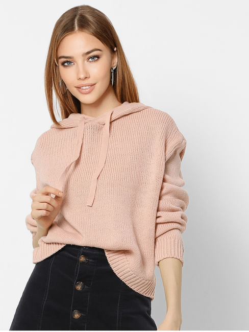 Pink Hooded Pullover