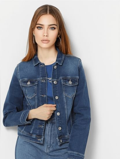 Blue Washed Denim Jacket