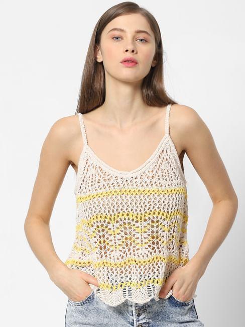 Off-White Crochet Top