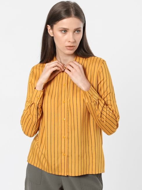 Mustard Striped Shirt