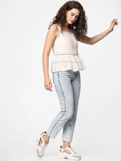 Light Pink Flared Top