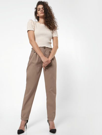 Brown High Rise Pants