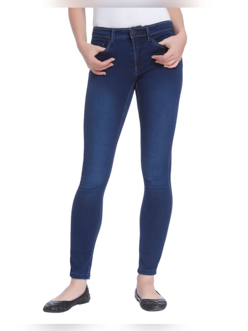 Blue Low Waist Slim Jeans