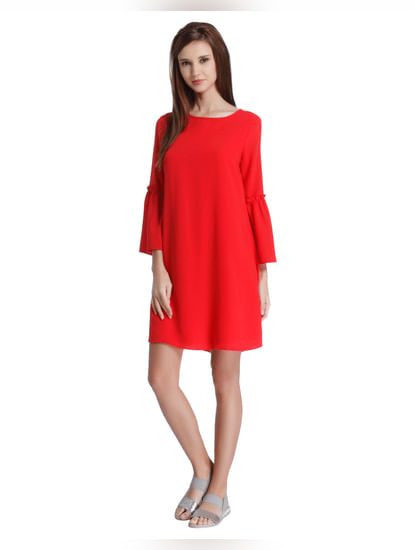 Scarlet Red Shift Dress