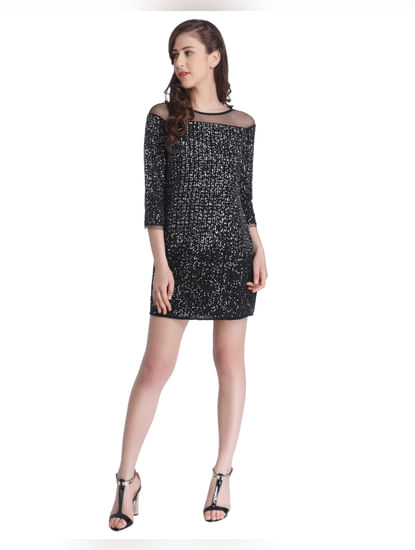 Sequined Party Midi Dress