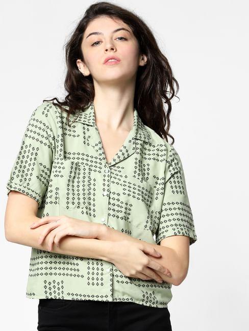 Green All Over Print Shirt