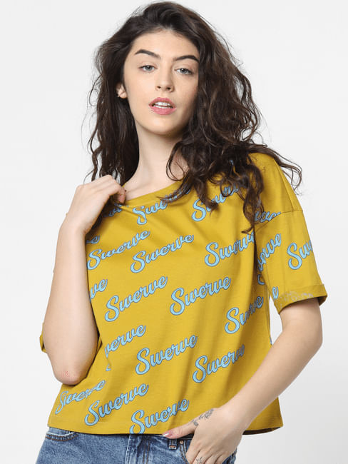 Yellow All Over Print T-shirt
