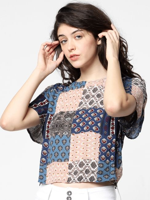 Pink Patch Print Top