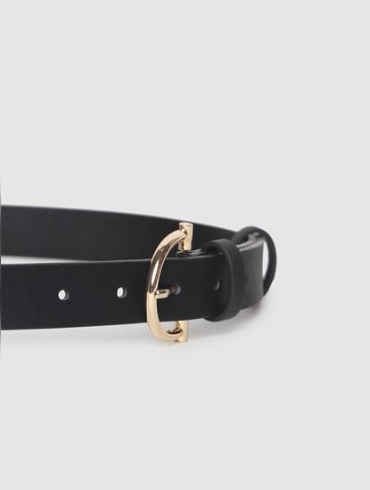 Black Twin Buckle Waist Belt