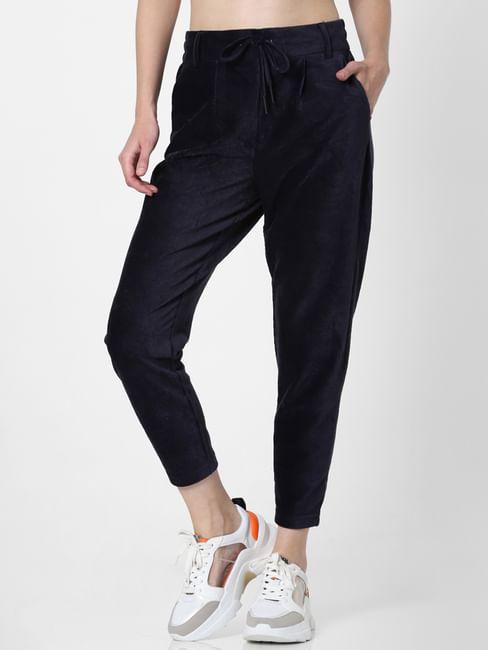 Blue Corduroy Drawstring Pants