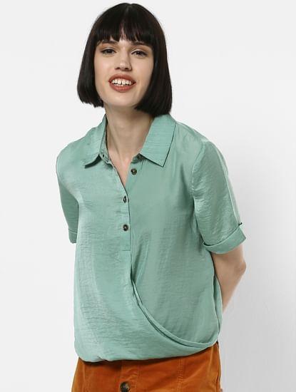 Sea Green Wrap Shirt