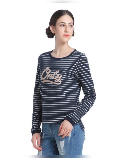 Navy Blues Striped Sweatshirt