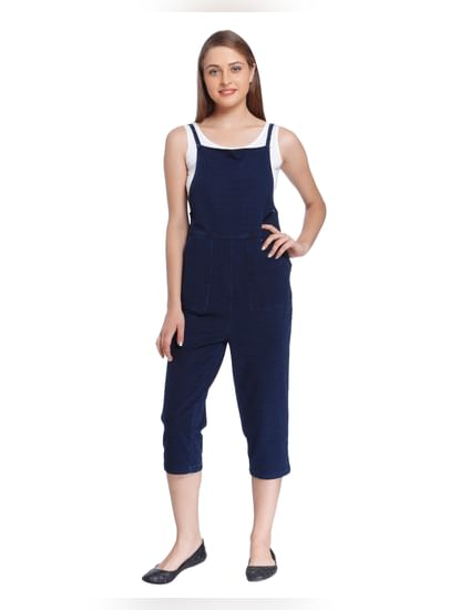 Dark Blue Denim Jumpsuit