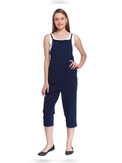 Dark Blue Denim Jumpsuit