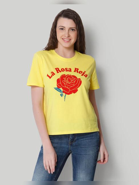 Yellow Graphic Print T-Shirt