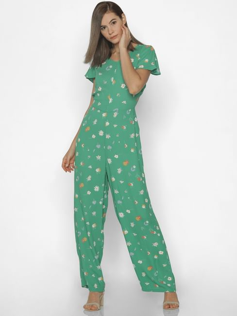 Green All Over Print Jumpsuit