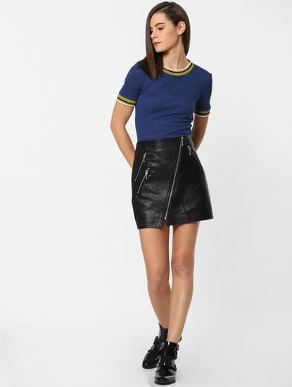 Blue Contrast Tipping Top