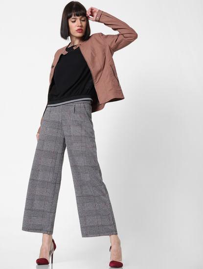 Dark Pink Faux Leather Jacket