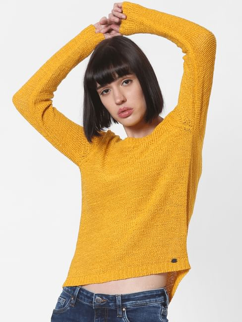 Yellow Fitted Pullover
