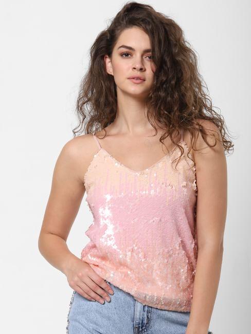 Pink Sequined Top