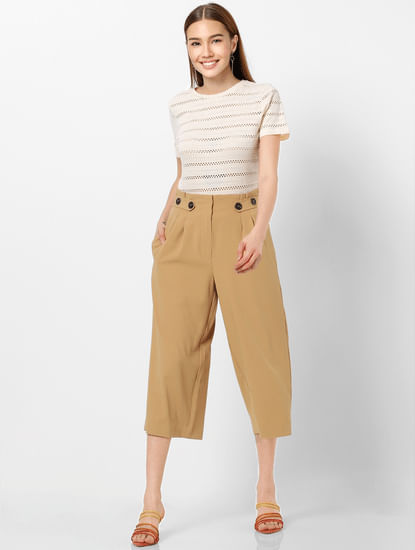 Brown High Rise Culottes