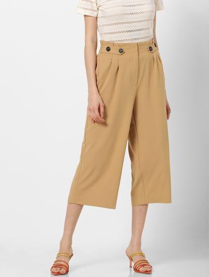 Brown High Rise Culottes