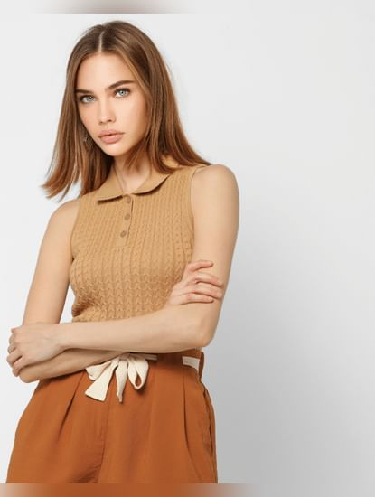 Brown Polo T-shirt