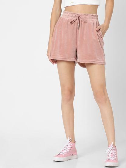 Pink High Rise Sweatshorts