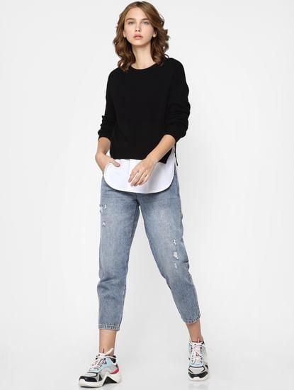 Black Knit Pullover