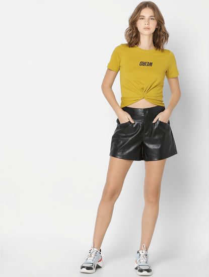 Mustard Front Twist T-shirt