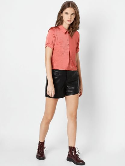 Coral Solid Shirt